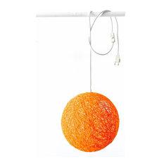 Sphere Wall Light, Orange, Small