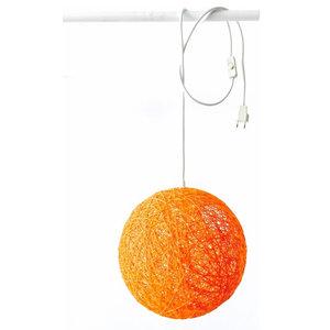 Sphere Wall Light, Orange, Large