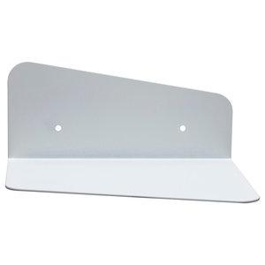 Minimalist Steel Wall Shelf, White