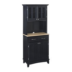 HomeStyles - Buffet with Hutch in Black Finish - Buffets and Sideboards
