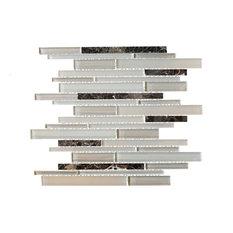 "11.75""x12.75"" Saturn Mosaic Tile Sheet, Beige"