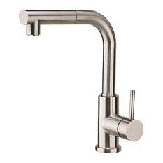 OUSIA Home Solid Stainless Steel Dual Spray Pull-Out Kitchen Faucet