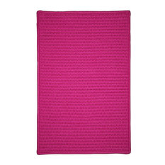 Colonial Mills, Inc - Braided Simply Home Solid, 10', Area Rug, Magenta, Square 10' - Outdoor Rugs