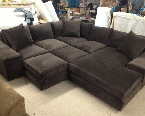 Media Room Custom Sectional Sofa