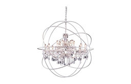 Urban Collection Pendent Lamp,  Shade,, Clear Shade, Polished Nickel