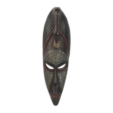 Novica Good Advice Akan Wood Mask