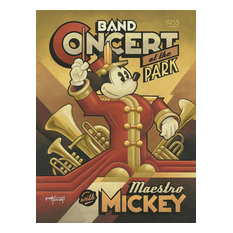 Disney Fine Art Maestro Mickey's Band Concert by Mike Kungl