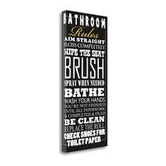 """Bathroom Rules"" By Jim Baldwin, Giclee Print on Gallery Wrap Canvas"
