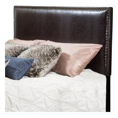 GDF Studio Alonzo Brown Leather Full To Queen Headboard