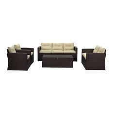 1st Avenue - Riviera 5-Piece Conversation Set - Outdoor Lounge Sets