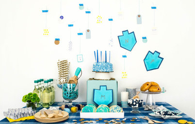 A Fresh and Fun Hanukkah Dessert Table and Wrapping Station
