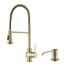 Kraus Britt Commercial Style Pull-Down Kitchen Faucet SFACB With Soap Dispenser