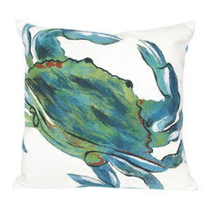 "Blue Crab Sea Pillow, Sea, 20""x20"""