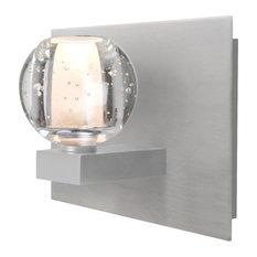 Boca 1 Light Bathroom Vanity Light in Satin Nickel