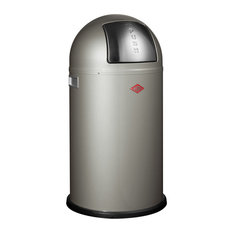 Wesco Pushboy Bin, 50 Litres, New Silver