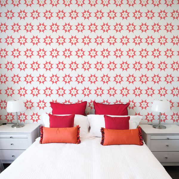 Star Burst Floral Wall Stencil - Contemporary - Wall Stencils - by ...