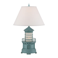 Seahaven Lighthouse Table Lamp, Sky Blue