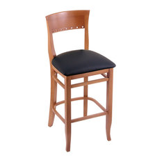 Holland Bar Stool 3160 25 Stool Medium Finish Black Vinyl Seat
