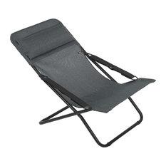 Lafuma Transabed Multi-Position Sun Lounger, Obsidian Grey