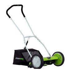 Reel Lawn Mower With Grass Catcher