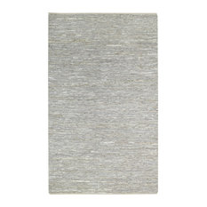 Zion's View Natural Rectangle Rug, Silver Gray, 7'x9'