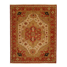 Soumak Flatweave Hand-Knotted Rug, Ivory and Red, 2'x3'