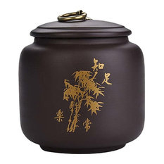 Purple Clay Food Storage Jar Tea Canister With Airtight Lid, No.001