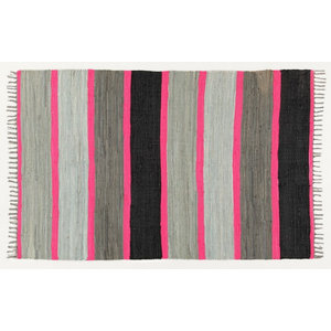 Neon Grey and Pink Area Rug, 180x120 cm