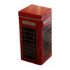 Set of 2 Practical Storage, Tins Tea, Coffee Canisters, Boxes, Telephone Booth
