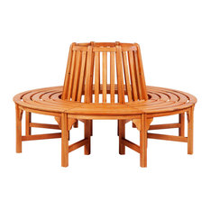 vidaXL Circular Tree Bench, Wood
