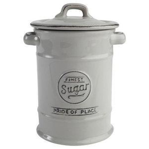 TandG Woodware Pride of Place Sugar Storage Jar, Cool Grey
