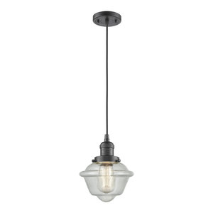Oil Rubbed Bronze Innovations 201C-OB-G531-LED 1 Light Vintage Dimmable LED Mini Pendant