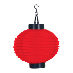 Outdoor Solar LED Chinese Lanterns, Set of 4, Red