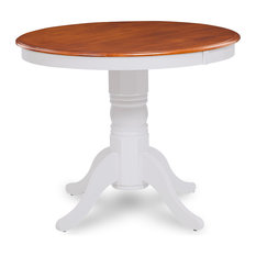 """Brookline 36"""" Dining Room Table, White and Cherry"""