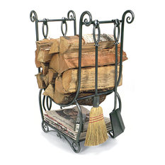 Achla Designs Country Wood Holder With Tools 4 Piece Set Firewood Racks