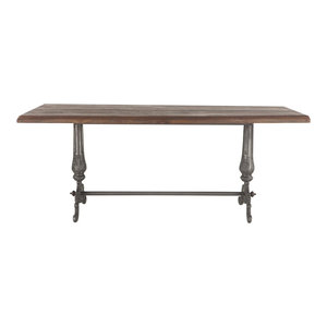 Regina Reclaimed Weathered Teak Dining Table, Gray, 76""