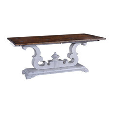 CAMBRIDGE Console Table Heavy Scroll Pedestal Pull-Out Side Supports