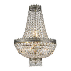 French wire basket chandelier houzz crystal lighting palace french empire 6 light crystal basket chandelier antique bronze aloadofball Gallery