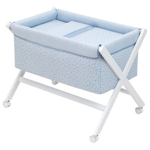 Etoile Cot, 87x55 cm, Blue, Without Canopy