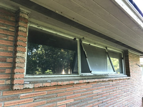Enlarging The Framing Would Require Replacing Headers Can Aluminum Windows Rest On Brick Veneer Or Should They Be Installed In Wood