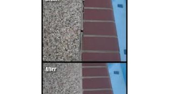 Pool Tile Deck Grout / Mastic Replacement