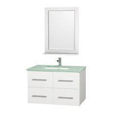 36 in. Single Sink Bathroom Vanity Set