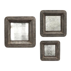 Imax Worldwide Home Jezant Mirror Tray Wall Decor 3 Piece Set