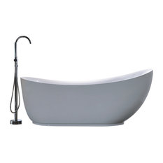 Legion Furniture Acrylic Tub, White, 71""