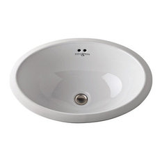 Rohl 20in Undermount Vitreous China Bathroom Sink in White