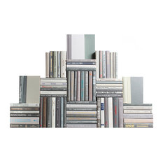Decorative Books, Modern Granite Book Wall, Set of 75