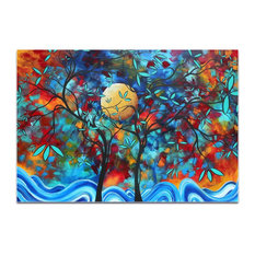Landscape Painting 'Lovers Moon', Abstract Tree Art on Acrylic