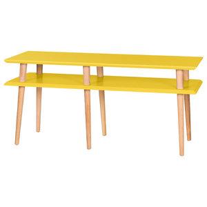 Mugo Small Scandinavian TV Stand, Yellow