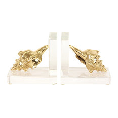 Crystal Seashell Bookends, Set of 2