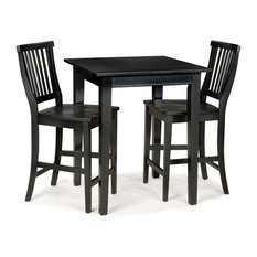 home styles arts and crafts 3piece bistro set black indoor pub
